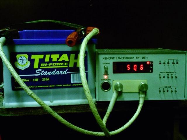 Прибор защищен патентами России и Украины.  Измеритель емкости химических источников токов (аккумуляторов)...